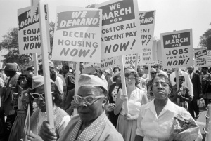 Civil Rights protesters at the 1963 March on Washington