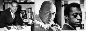 Left to right: Richard Wright, Ralph Ellison, James Baldwin