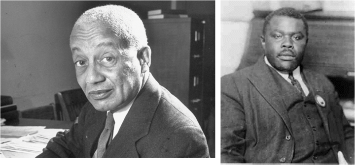 Left to Right: Alain Locke and Marcus Garvey