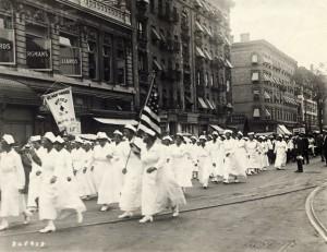 UNIA nurses march at 1922 parade in Harlem