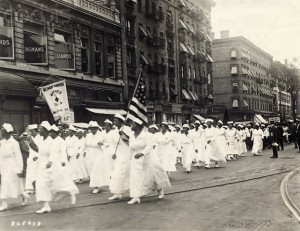 UNIA nurses march at 1922 parade in Harlem