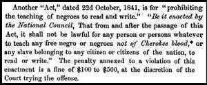 slave education
