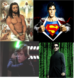 Top (Left to Right): Jesus, Superman Bottom: Luke Skywalker, Neo