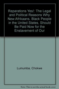 Lumumba's book providing legal arguments for reparations.