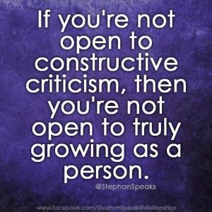 constructive criticism1