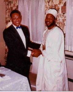 Minister Farrakhan and I. Syracuse, NY April 1990.